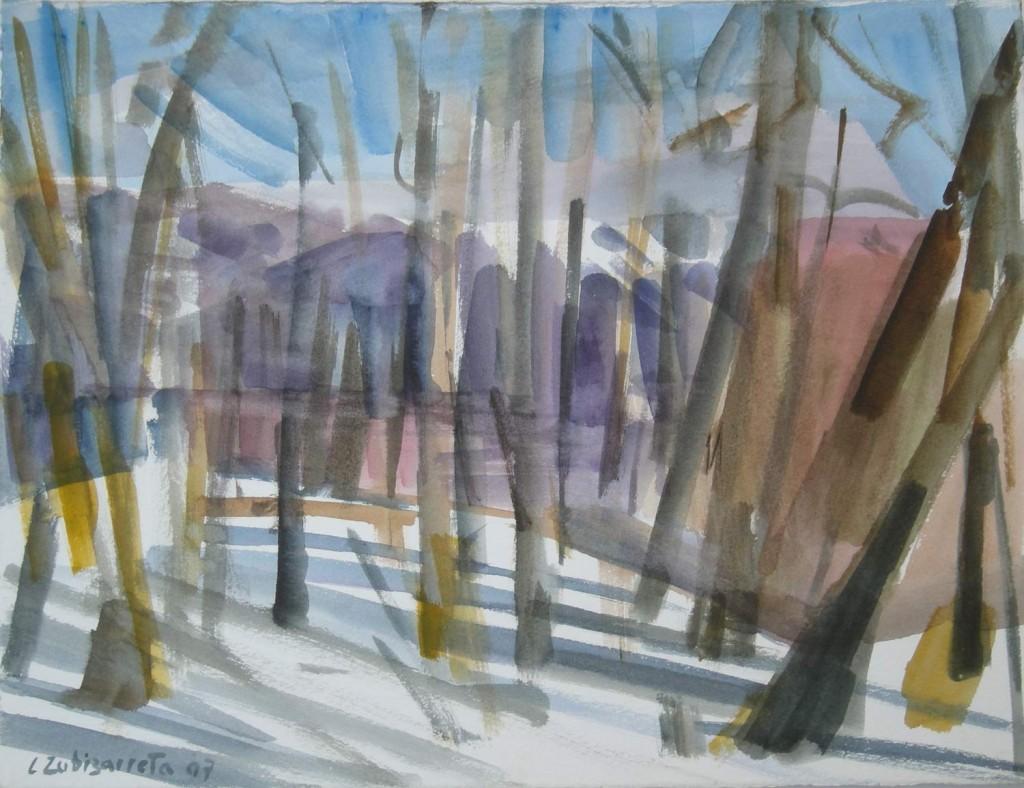 Nieve IV Acuarela 2007 26 x 35 cms